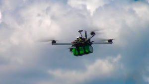 В полёте квадрокоптер долголёт DS600 фото