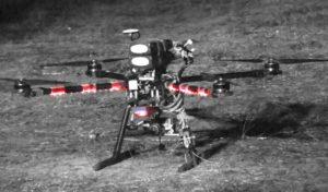 Первый квадрокоптер с тепловизором ULIR ч/б фото