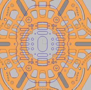 чертеж квадрокоптера в CAD