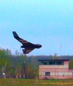 Летающее крыло X8 с тепловизором в полёте. Грабцево