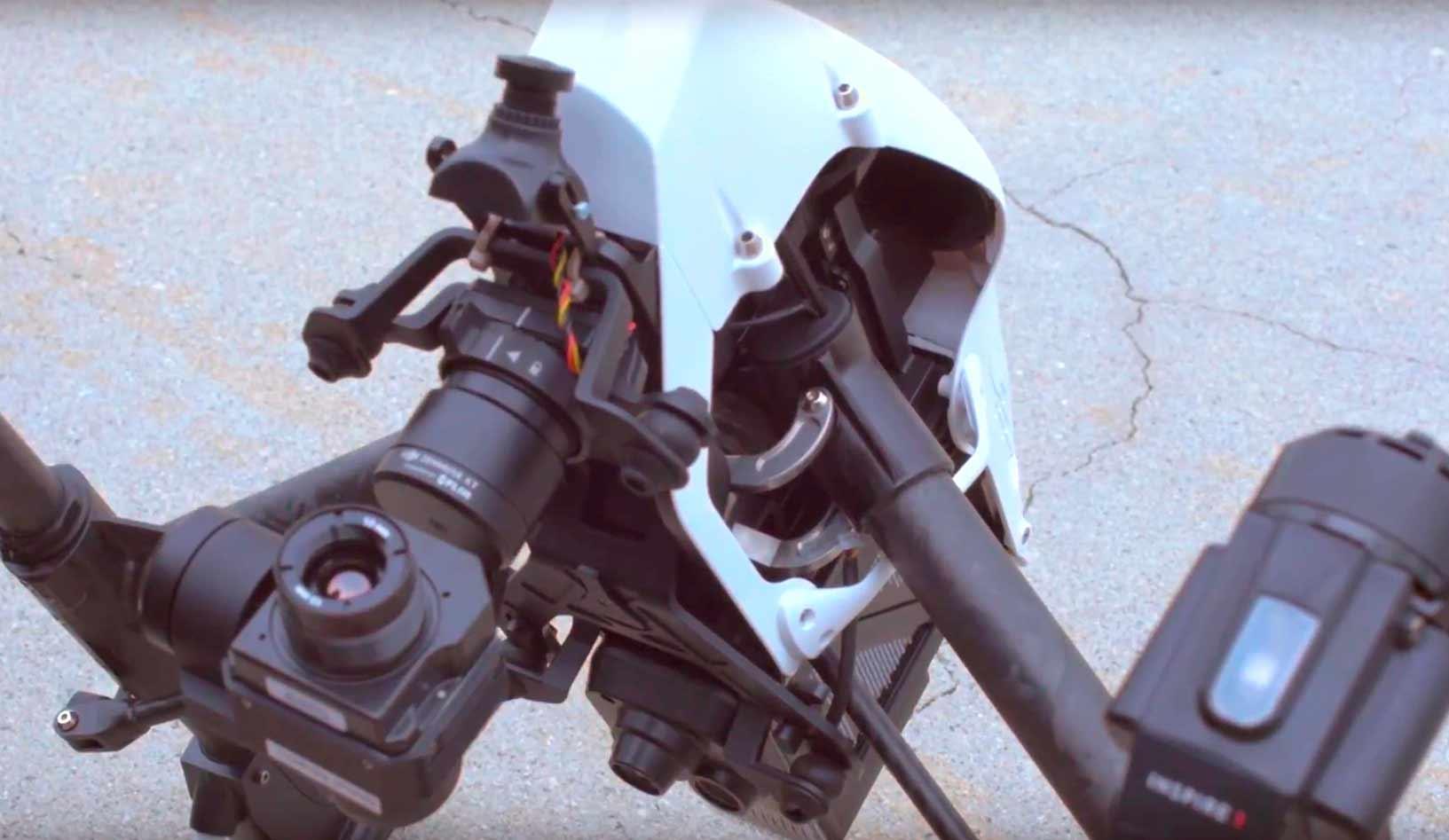 DJI Inspire 2 с колхозной камерой и тепловизором Zenmuse XT